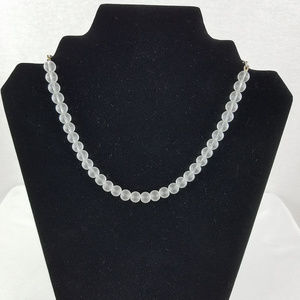 LIA SOPHIA Clear Beaded Necklace